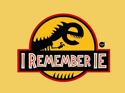 I remember IE6 ie6 internetexplorer jurassic park dinosaur old web design geek geek chic explorer internet