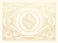 BN Monogram Art Deco Style