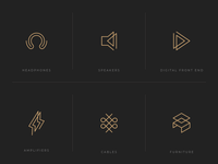 Icons for Audio Equipment Manufacturer