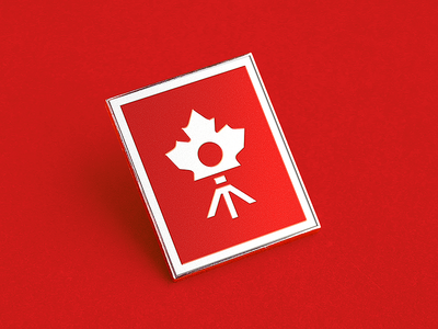 Pin badge mockup for Canada Photo Convention identity branding convention photo badge pin mockup logo
