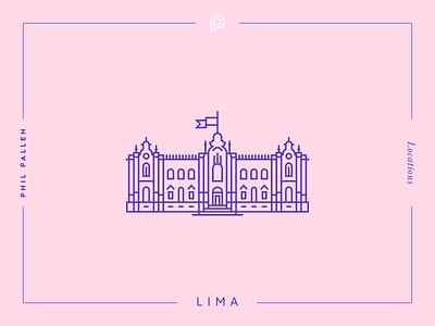 Lima Icon vector peru travel lima location line landmark icon flat city architecture