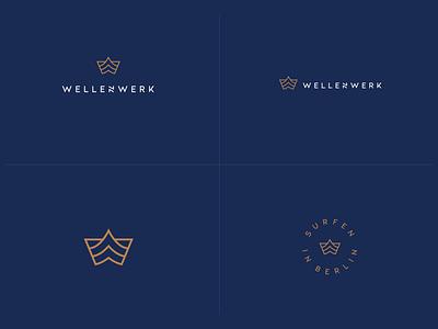 Wavepool Brand Identity lifestyle letterform surfing identity branding sport pool wave mark brand logo