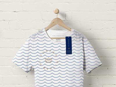 Wavepool Brand Identity mark pattern pool surfing tshirt merch stamp identity logo branding
