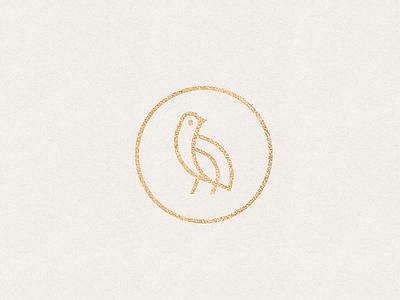 Quail bird logo mark chic clean custom logodesigns branding elegant quail bird animal symbol mark logo