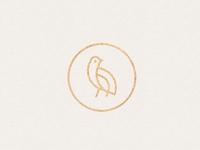 Quail bird logo mark