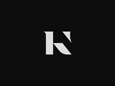 K Letterform Logo k type monogram letterform mark brand identity vector flat logo branding