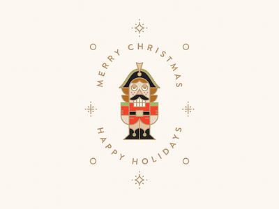 Nutcracker Christmas Greeting Illustration icon design vector greeting christmas flat artwork vector art illustraiton illustraor nutcracker