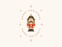 Nutcracker Christmas Greeting Illustration