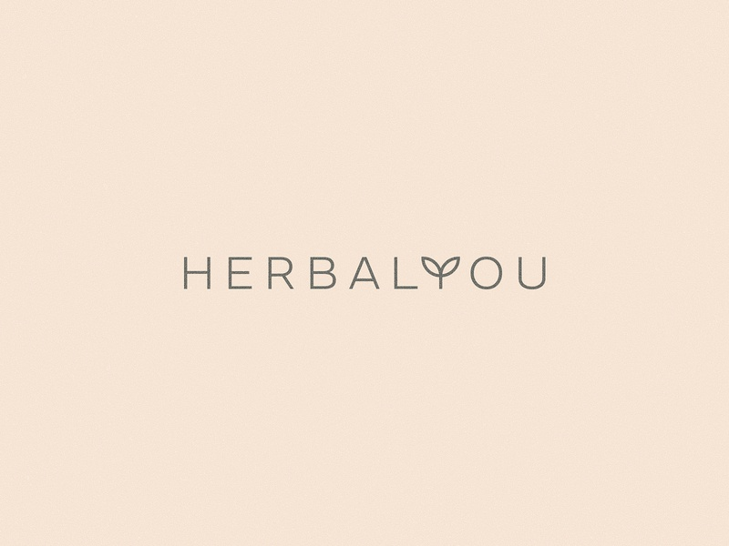 Herbal Medicine Logo design self care medicine healtcare herbal wordmark flat vector brand identity logo branding