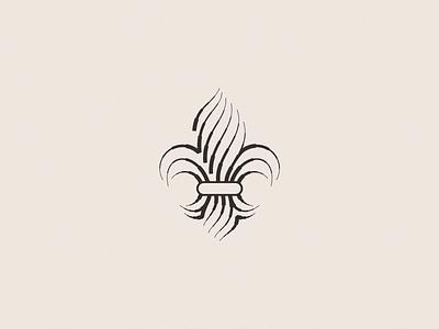 Fleur De Lis Icon crest coat of arms engraving fleur de lis line flat illustration ui design identity brand vector icon