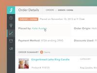 Order Details Concept