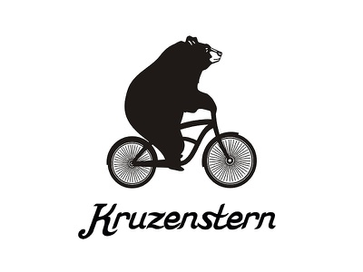 Kruzenstern sketch illustration black art animal kruzenstern bear ketov logo graphics
