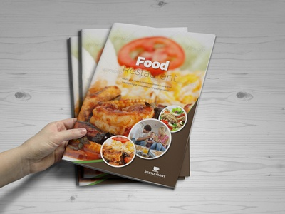 Food Restaurant Bifold Brochure brochure template education logo brochure mockup logo icon illustration branding vector mockup restaurant branding food menu flyer food brochure food app food and beverage food menu restaurant app restaurant flyer food restaurant