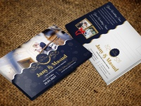 Wedding Invitation Postcard Design