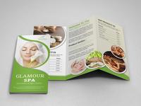 Spa & Beauty Salon Trifold Brochure