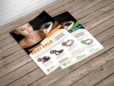 Jewellery Shop Promotion Flyer Template