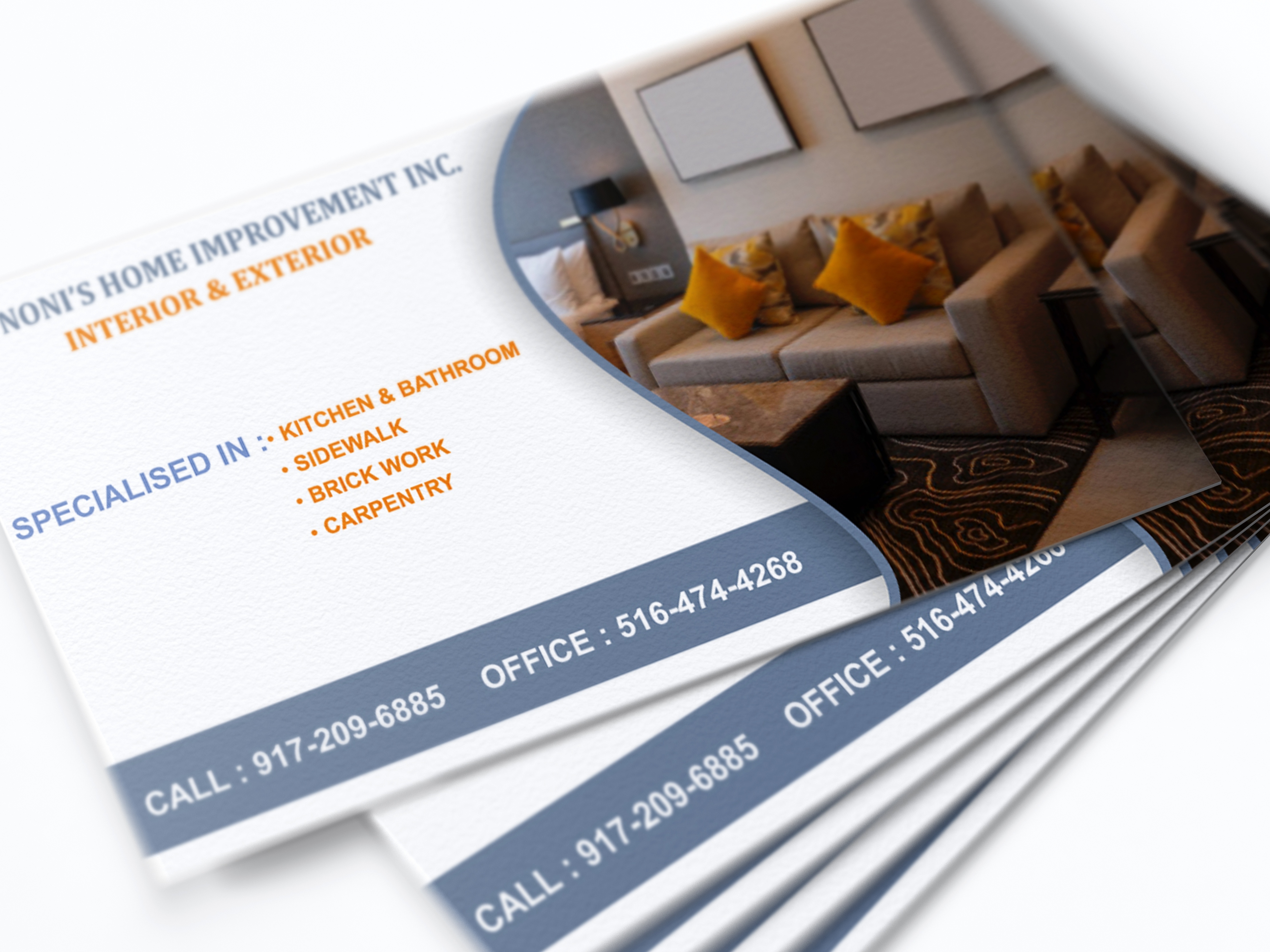Business Card For Interior And Exterior Business By Ramneet Pal Kaur On Dribbble