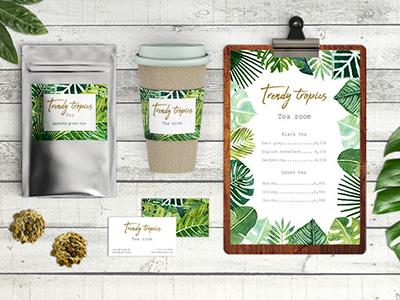 Trendy Tropics tropics urban jungle graphic resources monstera green leaves jungle pattern watercolor