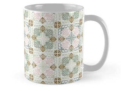 Cement tiles mug