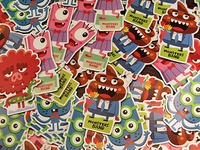 Monsters Band Stickers