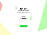 Daily UI #061 - Redeem coupon