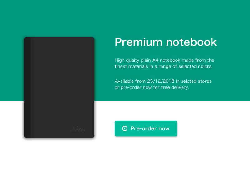 Daily UI #075 - Pre-order pre order dailyui075 daily 100 challenge daily 100 minimalist sketch ui design dailyui