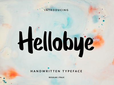 hellobye font branding typography design font lettering