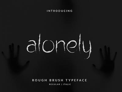 Alonely Brush Font branding illustration layout hand lettering handlettering vector typography lettering font design