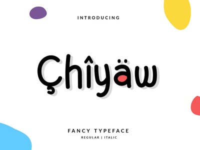Chiyaw Font branding vector illustration layout hand lettering handlettering typography lettering font design
