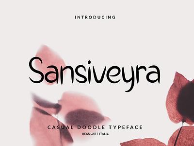 Sansiveyra Font branding vector illustration layout hand lettering handlettering typography lettering font design