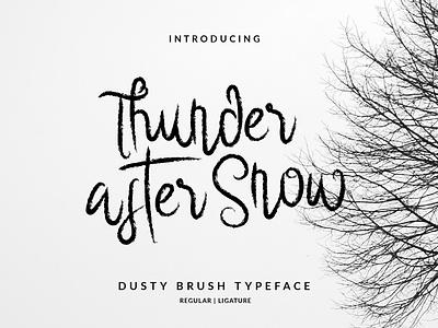 Thunder After Snow Brush Font vector branding illustration layout hand lettering handlettering typography lettering font design