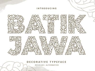 Batik Jawa Font typeface brush lettering handmade illustration layout handlettering design typography lettering font