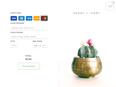 Daily UI - Credit Card Checkout #002 white check out simple uidesign daily ui 002 credit card checkout credit card daily ui