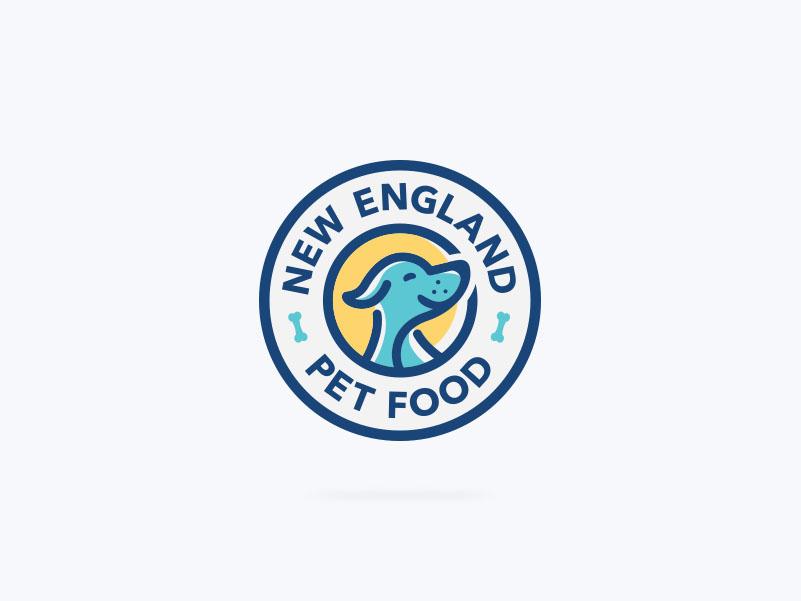 Logo for the producer of natural dog food. happy clean modern circular healthy natural logo design logo animal cute funny pet food pooch dog