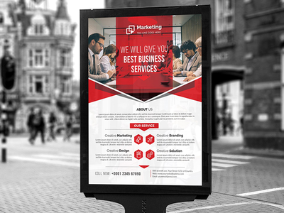 Corporate Poster seo providing poster post offering modern marketing management global flyer display design creative corporate poster corporate company business poster business flyer business bank