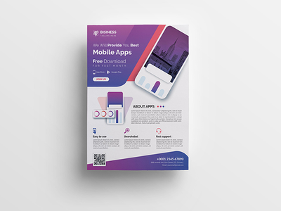 Mobile App Poster poster phone outdoor mobile iphone ios gym flyer fitness developer corporate commerce apps application app android agency adverts advertisement ads