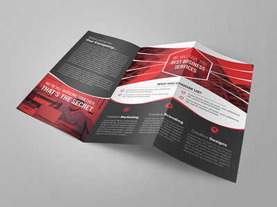 Trifold Brochure pro print ready print multipurpose modern marketing letter indesign financial customizable creative corporate company clean business brochure business brochure branding agency advertising