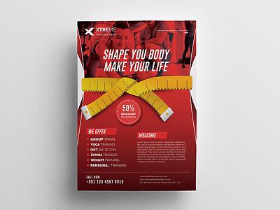 Fitness Flyer poster pamphlet martial arts flyer martial arts marathon leaflet instagram health flyer health handout gym flyer gym flyer fitness flyer fitness dance flyer club boxing body building advertisement