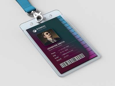 ID Card smart random promotion professional premium photography id card photo id card office id card modern miscellaneous marketing id card id graphic display colors clean