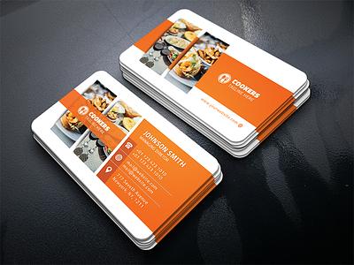 Food Restaurant Business Card real estate