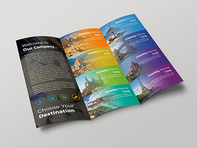 Travel Trifold Brochure By Fayshal Dribbble Dribbble