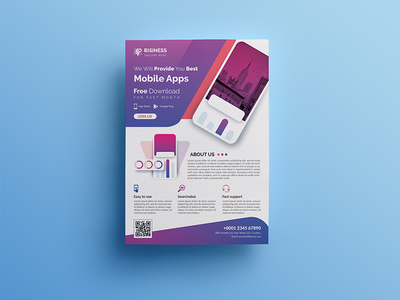 Mobile App Flyer sale promotion poster play phone mobile flyer mobile iphone ios flyer mobile flyer digital design corporate commerce application app android adverts ad