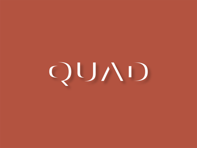 QUAD typography logo design brand luxurious brand identity minimalist logo branding