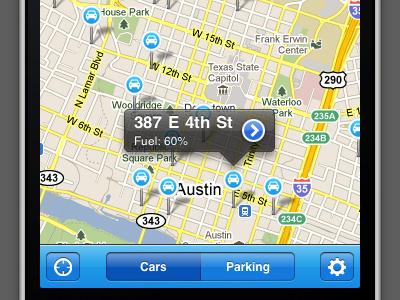 Car Sharing App app iphone maps