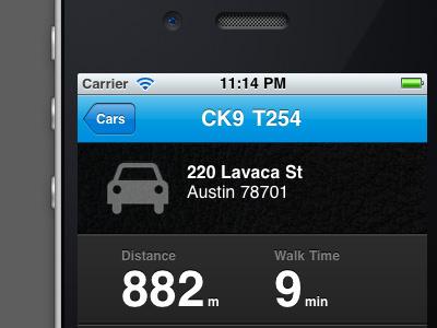 Car Details iphone ui