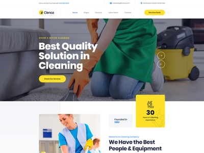 Clenoz - Cleaning Business Service Wordpress Theme design web web design clean office clean home cleaning cleaning