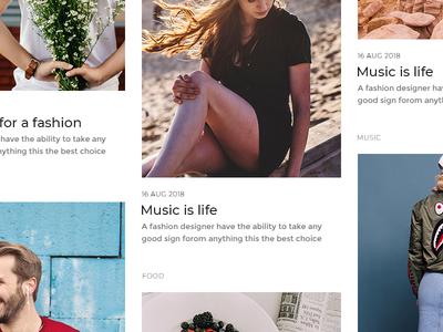 Massonary style blog design blog design web design