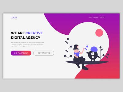 Header illustration web illustration agency web design illustration