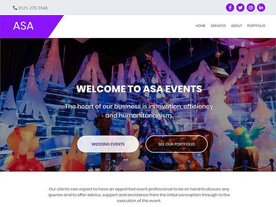 Event Management website template flat design typography web design web template event management