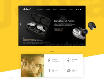 Jabra Product Landing Page Design